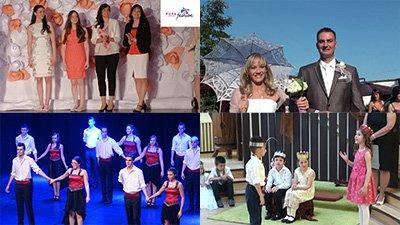 Szalagavató tánc, óvodai műsor, további esküvők, stb.
